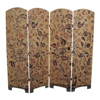 Contemporary Crewel Work Screen For Sale
