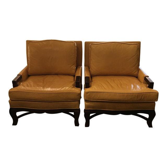 Kellex Leather Arm Chairs - A Pair - Image 1 of 7
