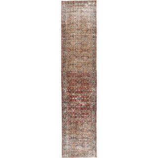 "Apadana-Antique Persian Distressed Rug, 4'3"" X 19'7"" For Sale"