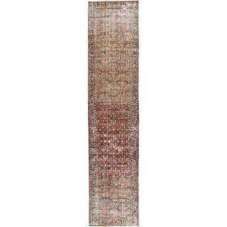"Apadana-Antique Persian Distressed Rug, 4'3"" X 19'7"""