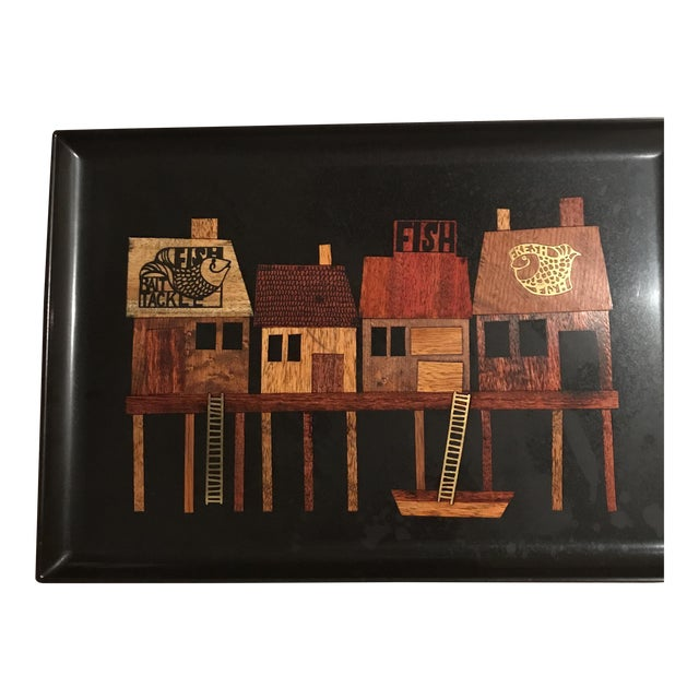 Couroc Fishermen's Wharf Serving Tray - Image 1 of 6