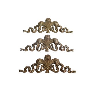 Cast Brass Appliqués, Set of 3 For Sale