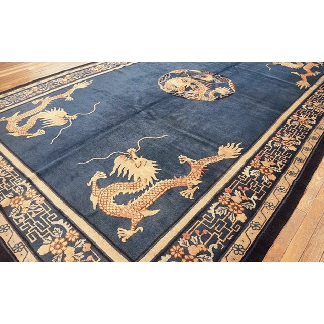 """Textile Antique Chinese Peking Rug 7'0"""" X11'8"""" For Sale - Image 7 of 9"""