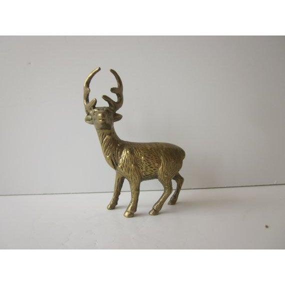 Hollywood Regency Brass Reindeer - Pair Deer - Image 5 of 6