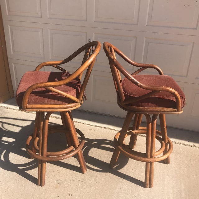 1960s Bentwood Swivel Bar Stools - a Pair - Image 4 of 8