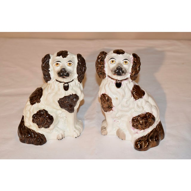 19th Century 19th C Staffordshire Spaniels - a Pair For Sale - Image 5 of 6
