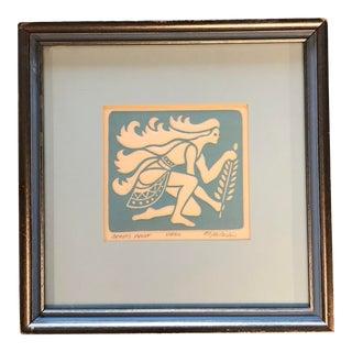 Original Pressed Paper Vintage Virgo Lithograph Astrological