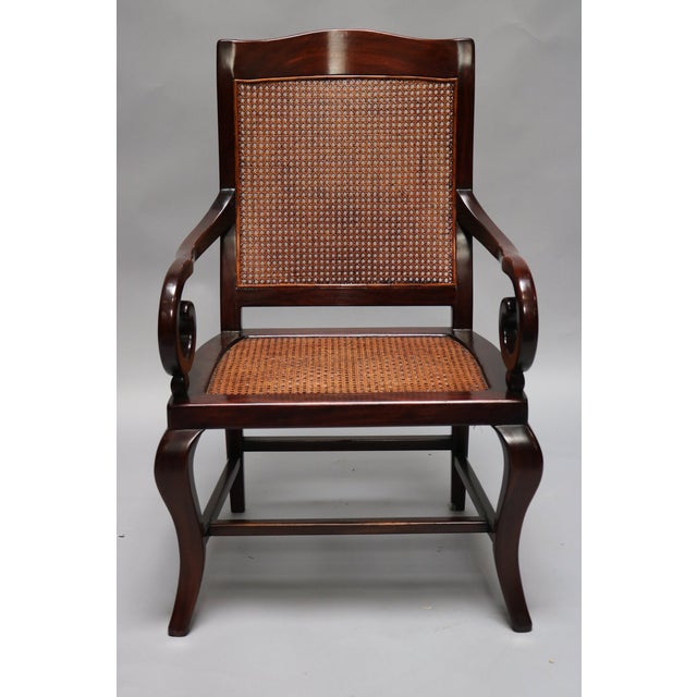 Wicker Guangdong Ironwood Colonial Armchair For Sale - Image 7 of 7