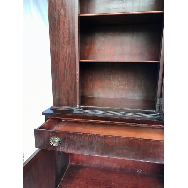 Brown Antique Mahogany China Cabinet For Sale - Image 8 of 12