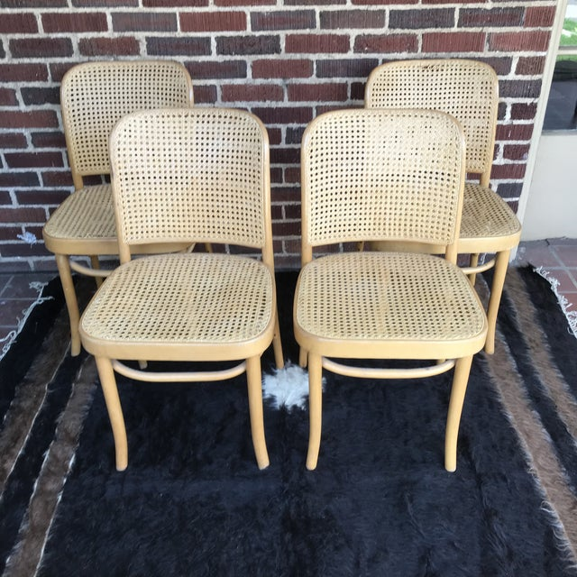 "Vintage Josef Hoffmann ""Prague"" Chairs- Set of 4 For Sale - Image 9 of 9"