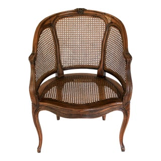 Louis XV Caned Bergere Armchair For Sale