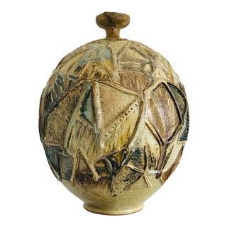 Studio Artist Pottery Vase, Signed Ludwig For Sale