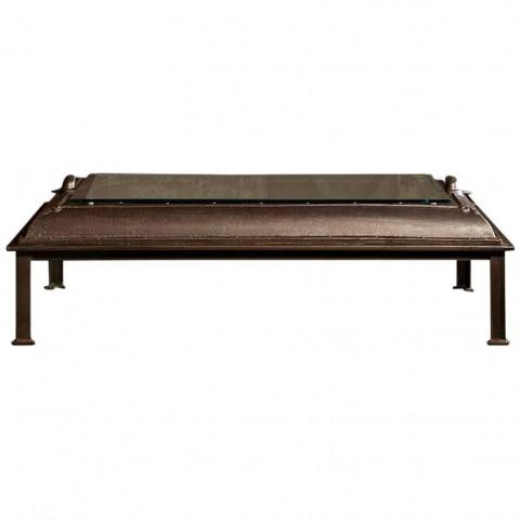 Cast Iron, Boiler Room Door Turned Coffee Table - Image 1 of 4