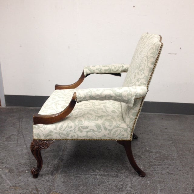 Mahogany Armchair With Nail Heads - Image 4 of 8