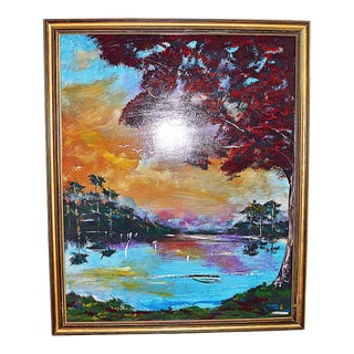 Florida Highwayman Style Painting, M. Sears For Sale