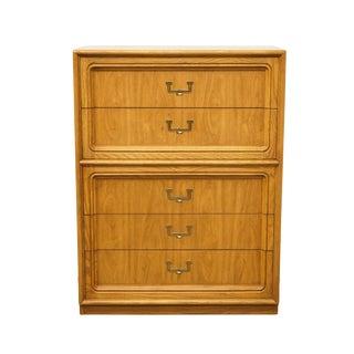Late 20th Century Vintage Thomasville Furniture Artform Collection Campaign Style Chest on Chest For Sale