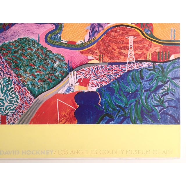 "Rare 1980 David Hockney Original Collotype Print Poster "" Mulholland Drive "" For Sale - Image 10 of 11"