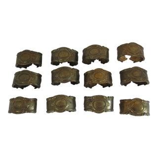 Italian Frieling Prasent Brass Cast Napkin Rings - Set of 12 For Sale