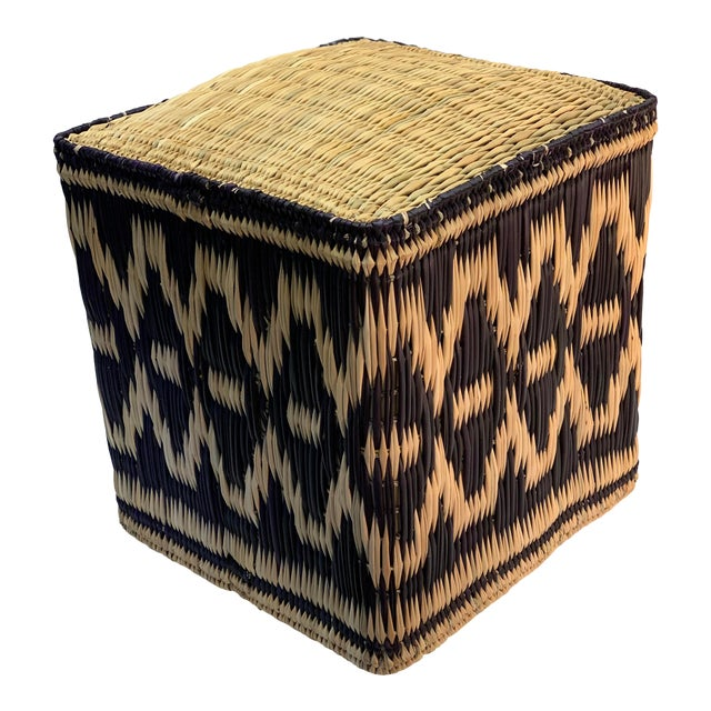 Admirable African Square Wicker Ottoman Pabps2019 Chair Design Images Pabps2019Com
