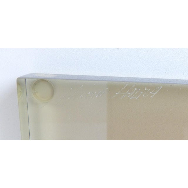 """Shlomi Haziza Acrylic Bent Lexan Lucite """"Z"""" End Tables / Nightstands - a Pair For Sale - Image 9 of 12"""