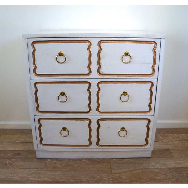 Gold Dorothy Draper Espana Style Chest Dresser For Sale - Image 8 of 8