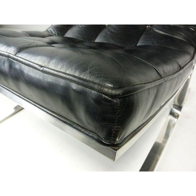Nicos Zographos Black Leather Lounge Chair - Image 5 of 6
