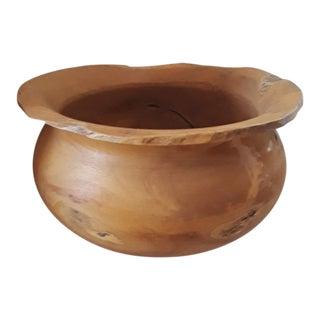 1990s Asian Eroded Teak Root Bowl