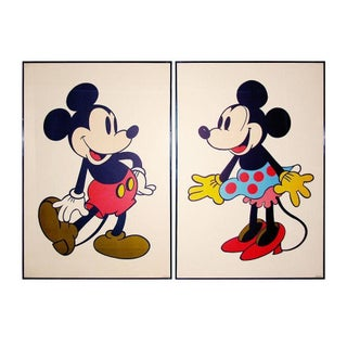 Rare Mickey & Minnie Mouse Posters - A Pair