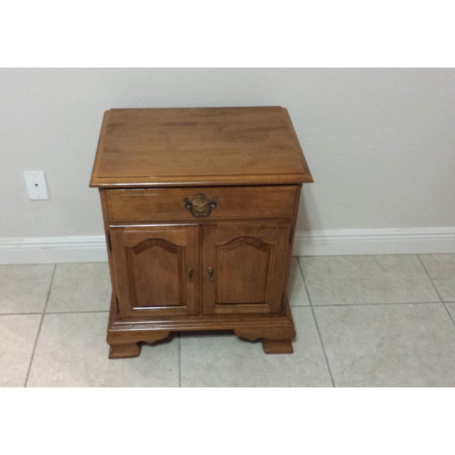 Ethan Allen Traditional Style Nightstand - Image 4 of 9
