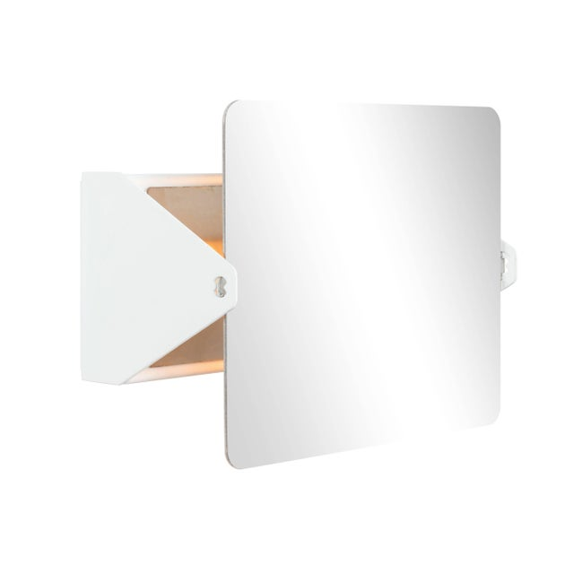Cassina Charlotte Perriand Mirrored 'Applique á Volet Pivotant' Wall Lights For Sale - Image 4 of 7