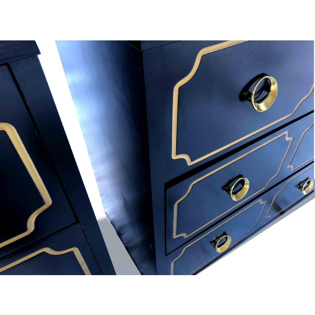 """1970s Hollywood Regency Dorothy Draper Style """"Espana"""" Bunching Chests - a Pair For Sale In Chicago - Image 6 of 11"""