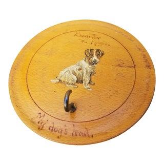 Vintage Terrier Dog Leash Holder For Sale
