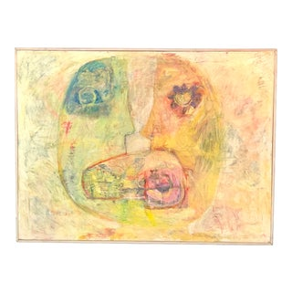 """1990's """"Inner Conversation"""" Large Abstract Expressionist Original Painting For Sale"""