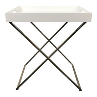 West Elm Tall Butler Tray Stand For Sale