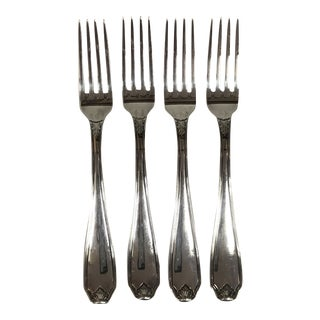 Silverplate Forks in Piedmont by Buccellati - Set of 4 For Sale