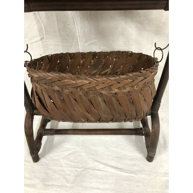 Mid-Century Bentwood Two Basket Organizer For Sale - Image 6 of 11