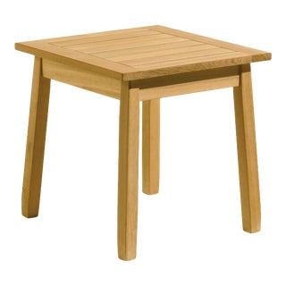 Wooden Outdoor Side Table For Sale