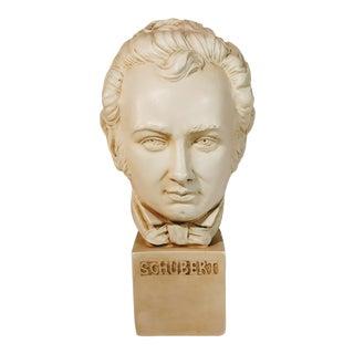 Vintage Mid-Century Franz Schubert Bust Sculpture For Sale