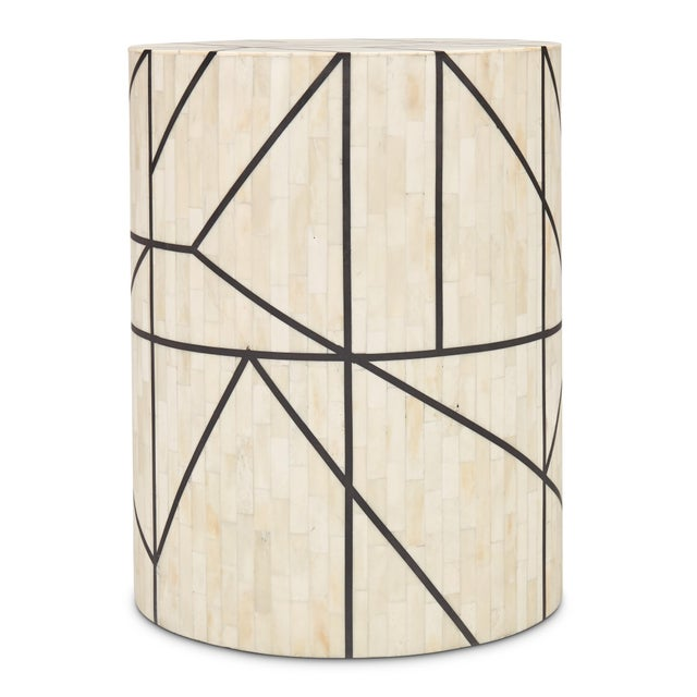 Contemporary Jackson Stool, White For Sale - Image 3 of 6