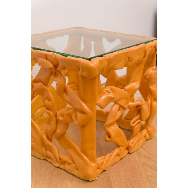 Decorative Resin Side Table For Sale - Image 4 of 7