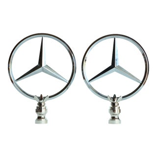 Mercedes Lamp Finials, Pair