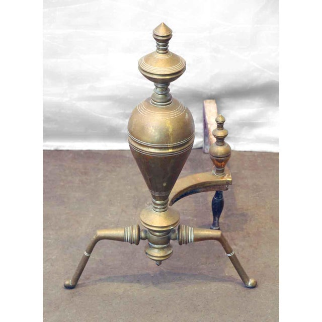 Brass & Iron Andirons - A Pair - Image 3 of 7