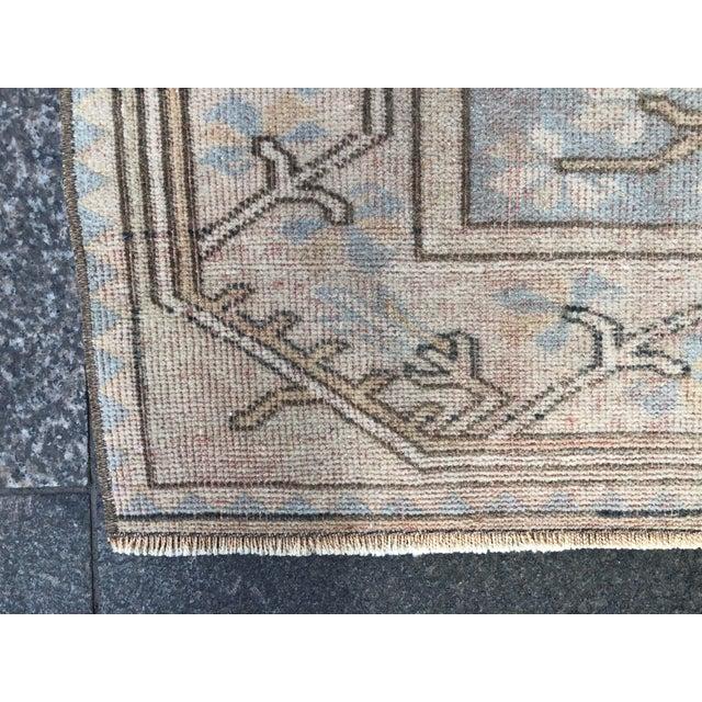 Textile 1960s Vintage Handmade Nomadic Rug- 3′6″ × 5′11″ For Sale - Image 7 of 11
