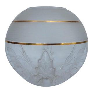 C.1970s Italian Hand-Blown Murano Mazzega Orb Globe & Gold Center Vase For Sale