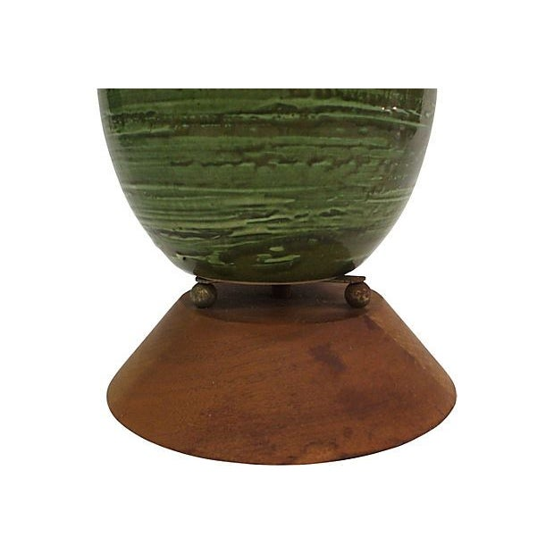 Emerald Green Textured Lamp - Image 2 of 5