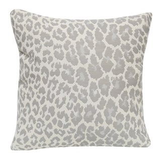 Gray Animal Print Pillow