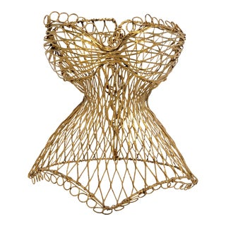 Vintage Miniature Wire Dress Form