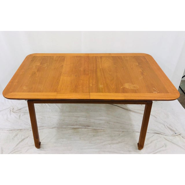 Brown Vintage Mid Century Modern Dining Table For Sale - Image 8 of 12
