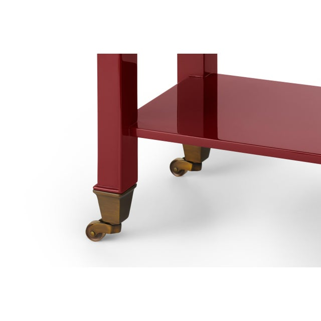 Handmade high gloss lacquer with bronze hardware