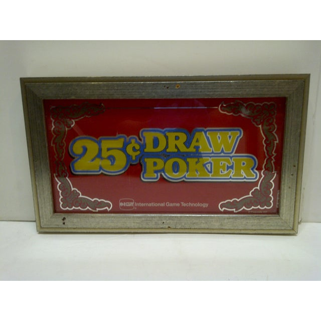 This is a Vintage -- Glass Display Top From A -- 25 Cent Draw Poker -- Video Poker Machine -- Made By -- IGT --...